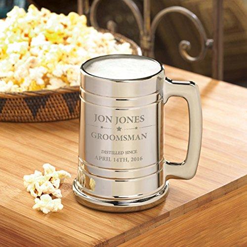 Groomsmen Metallic Mug - Distilled (Metallic Beer Mug compare prices)