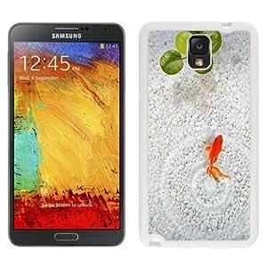 NEW Custom Diyed Diy For SamSung Note 3 Case Cover Phone With Orange Fish White Stone Aquarium_White Phone