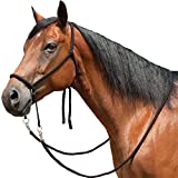 Mustang Nylon Bitless Bridle w/Reins Black