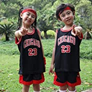 Basketball Jersey,Kids Boys Basketball 2-Piece Basketball Performance Tank Top and Shorts Set