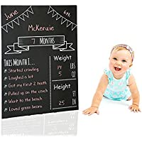 Milestones Monthly Chalkboard, Monthly Baby Chalkboard, Social Media Photo Prop, Baby Stat Board