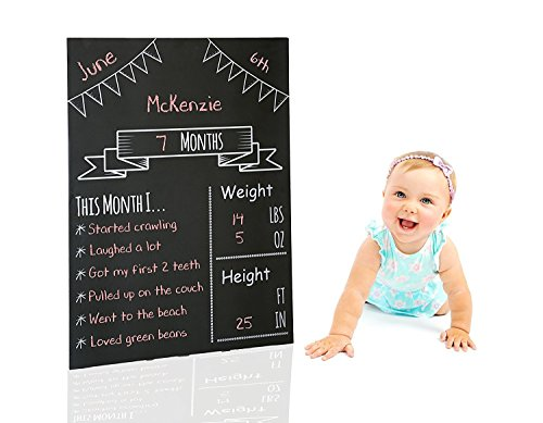 Milestones Monthly Chalkboard, Monthly Baby Chalkboard, Social Media Photo Prop, Baby Stat Board by Milestones