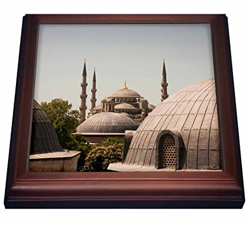 Sultan Mosque Ahmed (3dRose trv_45997_1 Sultanahmet Mosque, Known As The Blue Mosque and Sultan Ahmed Mosque, Istanbul, Turkey Trivet with Ceramic Tile, 8 by 8