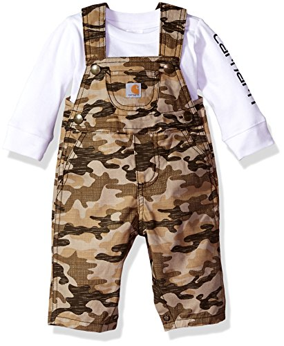 Carhartt Baby Little Boys' Sets, Tan Camo Overall-1, 24M (Tan Camo)