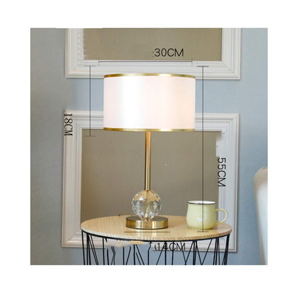PANGU-ZC Tischlampe Post Moderne Kristall Schlafzimmer Nachttischlampe Schreibtischlampe Wohnzimmer Kreative Dimmable LED Leselampe (Farbe   A, Design   Taste)