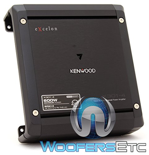 Kenwood Excelon X301-4 4-Channel Car Amplifier (Kenwood Amp 4 Ohm)