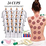 Cupping Therapy Sets,Hijama Cupping Vacuum Suction 24 Cups Sets for Cellulite Cupping Massage Back Pain Relief ,Chinese Cupping Therapy Pump Hijama