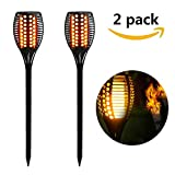 Solar Torch Light Dancing Pathway Lighting Outdoor Waterproof Flickering Landscape Decoration Lighting Dusk to Dawn Auto On/Off Security Warm Lamp