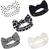 Touched by Nature Baby Girls' Organic Cotton Headbands, Heart 5-Pack, One Size