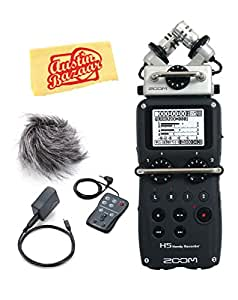 Zoom H5 Handy Recorder Bundle with APH-5 Accessory Pack, Polishing Cloth