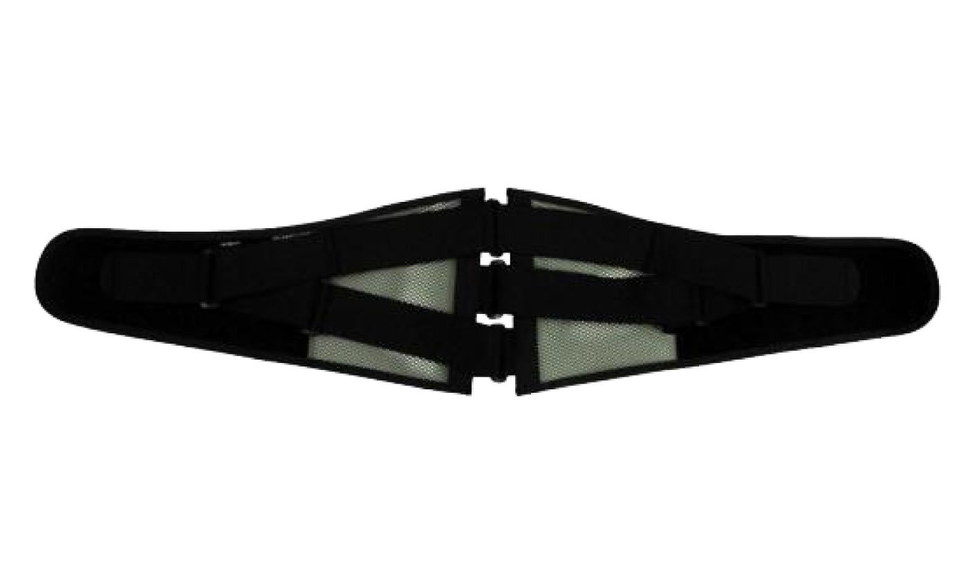 MIZUNO(ミズノ) 腰部骨盤ベルト ワイドタイプ (補助ベルト付) mz-c3jkb502 B07DZ4741F M-L|ブラック/グレー