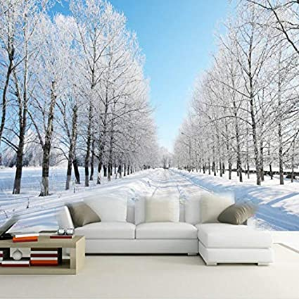 Amazon Com Amazhen Custom 3d Wall Murals Wallpaper Winter