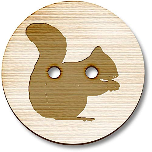 Azeeda 8 x 23mm 'Squirrel' Round Wooden Buttons (BT00013834) ()