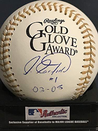 A 2003 Baseball Glove - Luis Castillo (Florida Marlins) Autographed Baseball - 2003 05 Gold Glove Oml - Autographed Baseballs