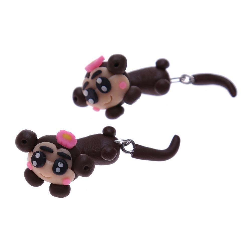 Diamondo Women Handmade Polymer Clay Ear Stud Earrings Piercing Jewelry(Monkey) 1sk6wa3qt6se5dg6D02
