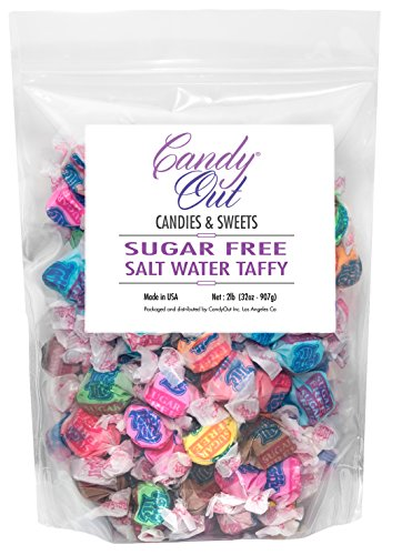 CandyOut Taffy Lite SugarFree Salt Water Taffy 2 Pound in CandyOut Sealed Bag ()