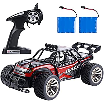 f041069733a SGILE 15km/h RC High Speed Car Toy for Boy, 2.4Ghz Remote Control Vehicle  Truck Crawler Monster Off-raod in All Terrain for Kids Birthday Present  with 2 ...