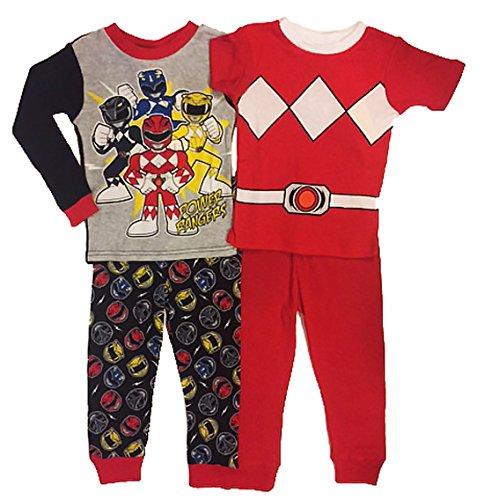 Power Rangers Little Boys Toddler 4 Pc Cotton Pajama Set (5T) (Power Rangers Kids Pajamas)