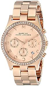 Marc by Marc Jacobs Women's MBM3118 Henry Rhinestone-Accented Rose Gold-Tone Analog Watch