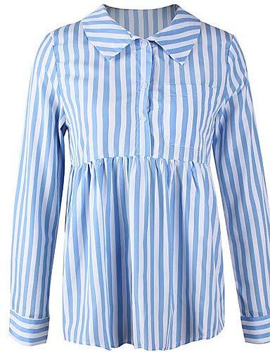 da donna Basic A Blue righe YFLTZ Camicia 1q7tEE