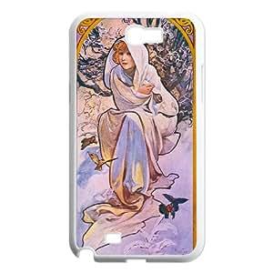 Zodiac Signs Alphonse Mucha Samsung Galaxy N2 7100 Cell Phone Case White CVXEYERTE37903 Jillian Phone Cases
