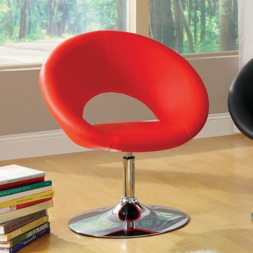 247SHOPATHOME IDF-AC6915RD Living-Room-Chairs, Red For Sale
