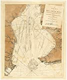 Historic Map   1779 A chart of Delawar Bay, with soundings and nautical observations   Antique Vintage Reproduction