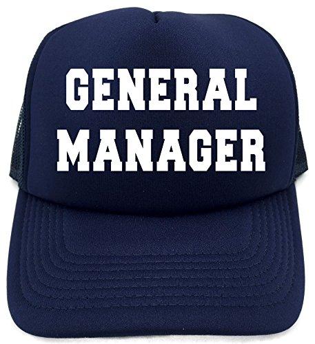Diva Joy GENERAL MANAGER Navy Retro Cap Foam Baseball Cap Trucker Hat - General Manager Mens Watch