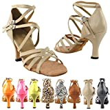 50 Shades Dance Dress Shoes: 5008, Tan Leather, 2.5'' Heel, Size 9 1/2