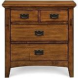 Cambridge 98129NS-OAK Sadona Nightstand, 4-Drawer, Oak