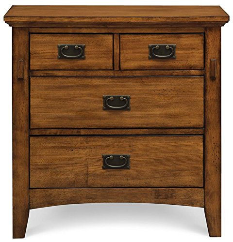 Cambridge 98129NS-OAK Sadona Nightstand, 4-Drawer, Oak (Traditional Wood Drawer)