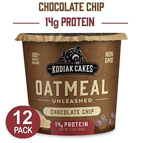 Kodiak Cakes Instant Protein Chocolate Chip Oatmeal in a Cup, 2.12 Ounce (Pack of - Chip Chocolate Cake