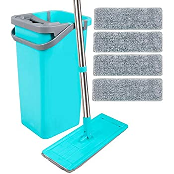 Flat Replacement Heads for Wet Or Dry Floor Cleaning and Scrubbing 3 Pack Professional Home//Office Cleaning Supplies, MASTERTOP Microfiber Reusable Mop Pads B07MW9B42P,B07GRNPVCC