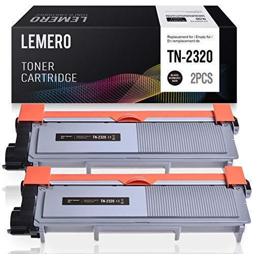 2 LEMERO TN 2320 Tóner Negro Compatible para Brother TN2320 Tóner ...