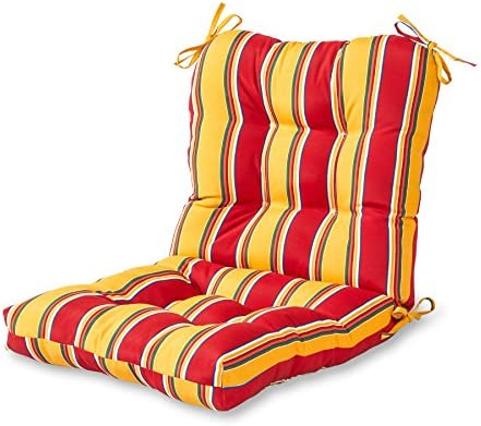 Deal of the week: Greendale Home Fashions AZ5815-CARNIVAL Fiesta Stripe 42'' x 21'' Outdoor Seat/Back Chair Cushion
