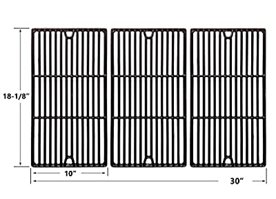 Replacement Porcelain Cast Iron Cooking Grids For Charbroil 466247512, Cuisinart, Kenmore 463268107, Tuscany CS784LP and Uniflame NSG3902D Gas Grill Models, Set of 3 from bbqGrillParts