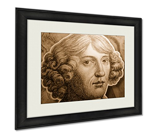 Ashley Framed Prints Christopher Columbus, Wall Art Home Decoration, Sepia, 30x35 (frame size), AG6372004 by Ashley Framed Prints