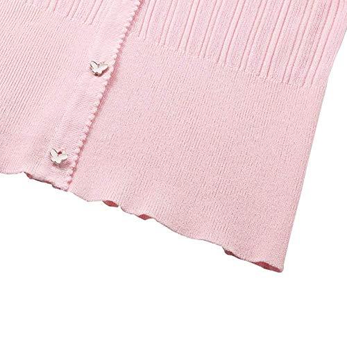 Fine Maglia Lily Rosa Bobo Unique Stlie Giacca Libero Tempo Fashion Maniche Autunno Monocromo Elegante Breasted Donna A Facile Primaverile Single Lunghe Cappotto 6qPIPd