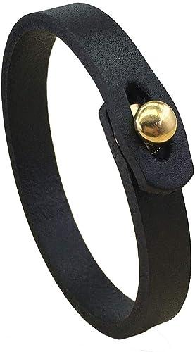 Handmade Adjustable Leather Cuff Bracelet Punk Style Leather wrap Wristband Mens Genuine Leather Bracelet