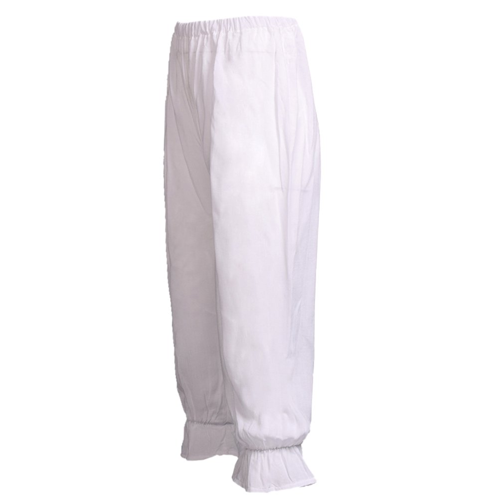 BLESSUME Victorian Lady Pantaloons Wthie Bloomers (Waist: About 64-110cm/25-43)