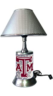 Base Wrapped with Diamond Metal Plate Kentucky Wildcats Plate Rolled in on The lamp Base Rico Table Lamp with Chrome Colored Shade