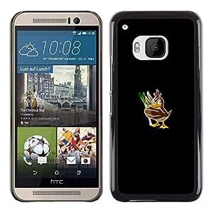 // PHONE CASE GIFT // Duro Estuche protector PC Cáscara Plástico Carcasa Funda Hard Protective Case for HTC One M9 / Empuje mosnter Pato /