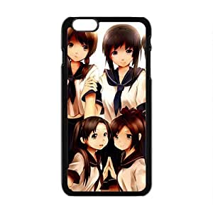 Cartoon Anime Cute Black Phone Case for iPhone6 plus PIX1 Customize Case