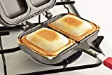 Hinomaru Collection Japanese Hot Pan Twin Sandwich Flame Toaster Non Stick Aluminum Pan Camping Outdoor Barbecue Gear Made In Korea