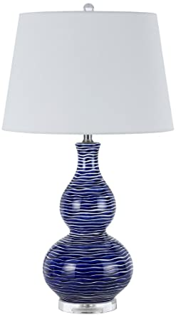Payson Ocean Blue Ceramic Table Lamp Set Of 2 Amazon Com
