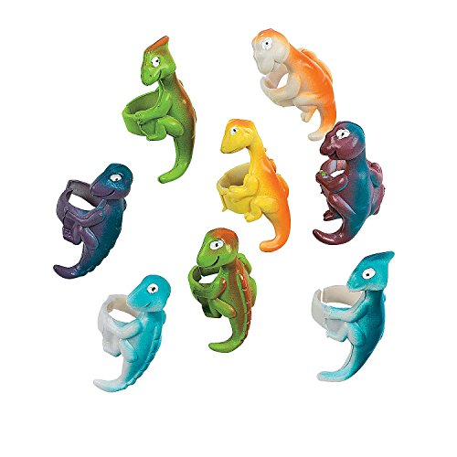 William & Douglas Dinosaur Party Bundle | Supplies Favors and Giveaways for Children's Dinosaur Birthday Party | Dinosaur Stickers, Cellophane Bags, Rings & Stampers by William & Douglas (Image #3)'