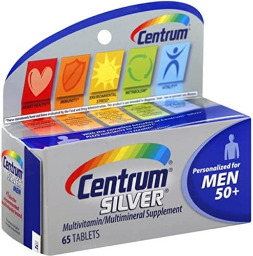 Centrum Silver Men 50 Multivitamin Tablets 65 ea Pack of 9