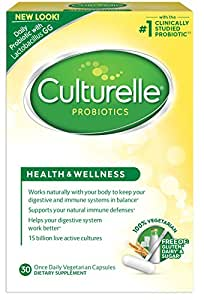 Culturelle® Health & Wellness Daily Probiotic Dietary Supplement |Restores Natural Balance of Good Bacteria in Digestive Tract*|With #1 Proven Effective Probiotic†|30 Vegetarian Capsules