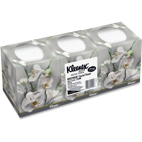 Kleenex(R) BOUTIQUE(TM) Facial Tissues, 95 Tissues Per Box, Pack Of 3 Boxes