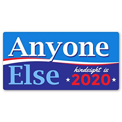Crafted-Brand Anyone Else 2020 Bumper Sticker – Tired of Today's Presidential Politics? Show That You are Ready for a Change in The Next Election: Automotive